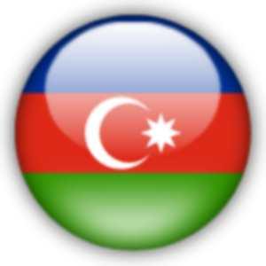 Etiket azerbaycan bayrağı