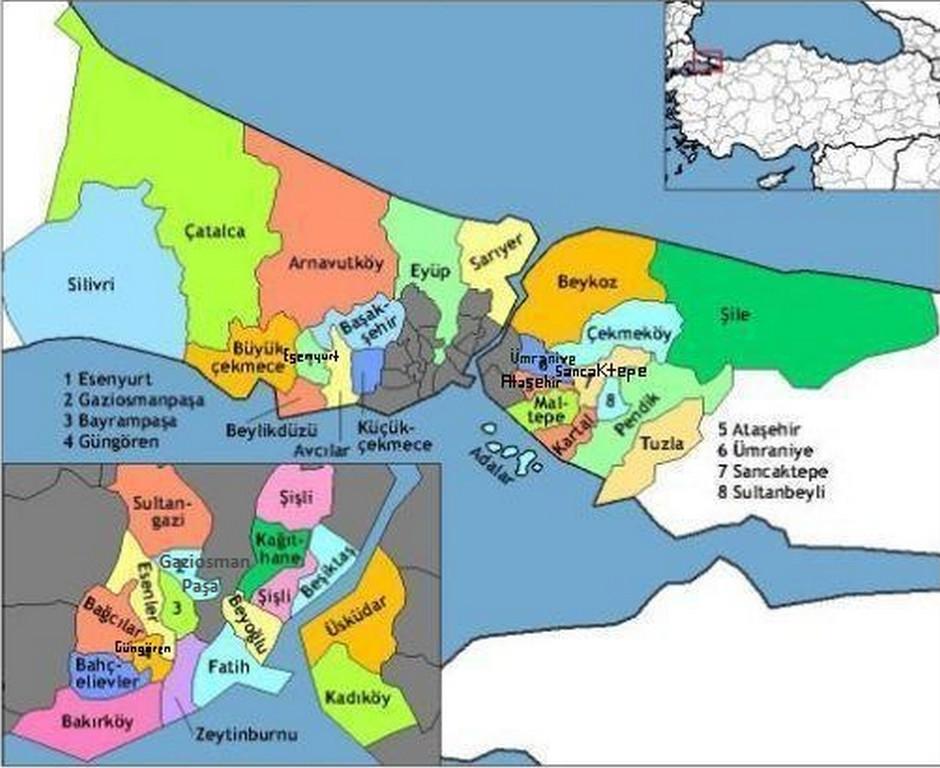 Istanbul haritası istanbul haritası resimleri istanbul haritası