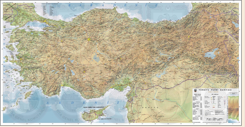 Etiket türkiye fiziki haritası detay türkiye fiziki haritası