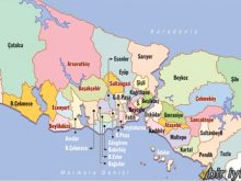 istanbul haritası ilçeler
