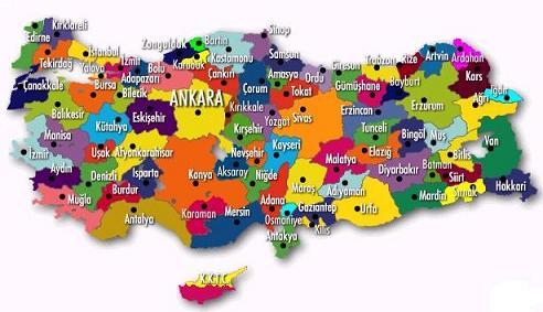 Türkiye Haritaları  Galerisi