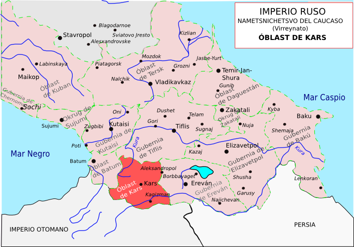 Gubernias_del_Caucaso_-_Oblast_de_Kars_-_Imperio_Ruso