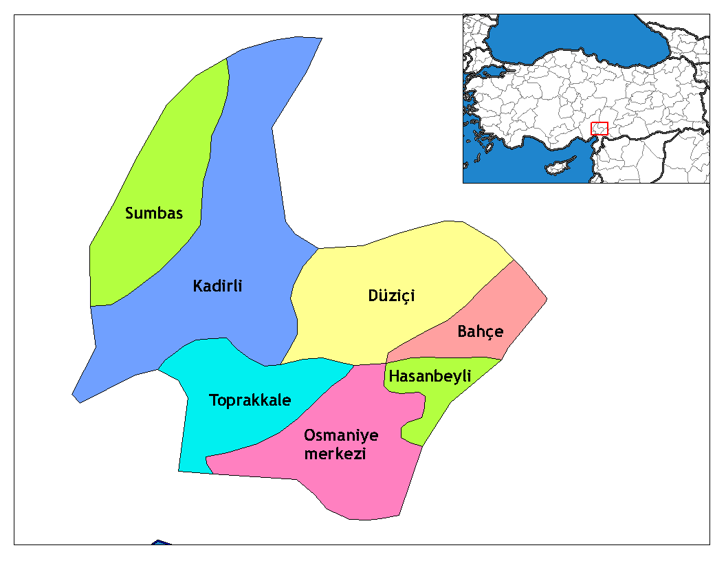 Osmaniye_districts