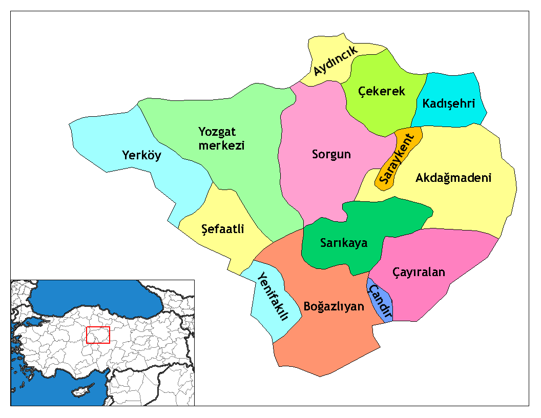 Yozgat_districts