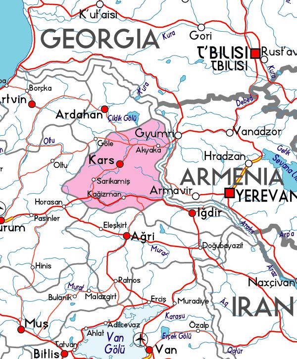 turkiye_kars_harita